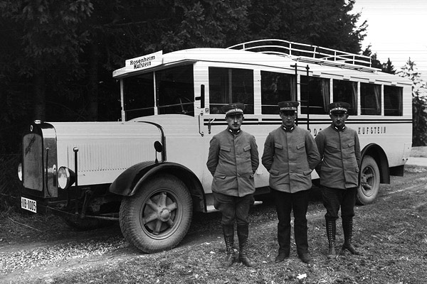 Margreiter Firmengeschichte - Buslinie Rosenheim - Kufstein